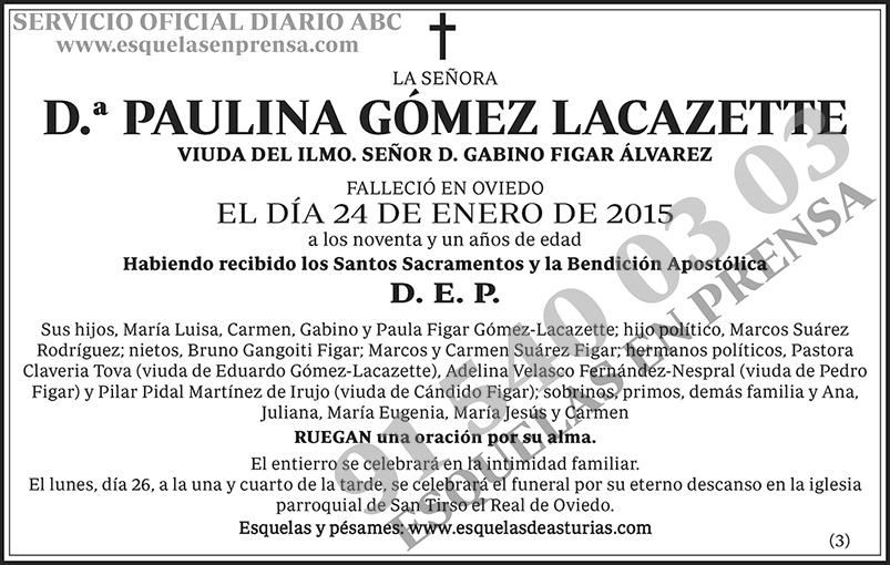 Paulina Gómez Lacazette